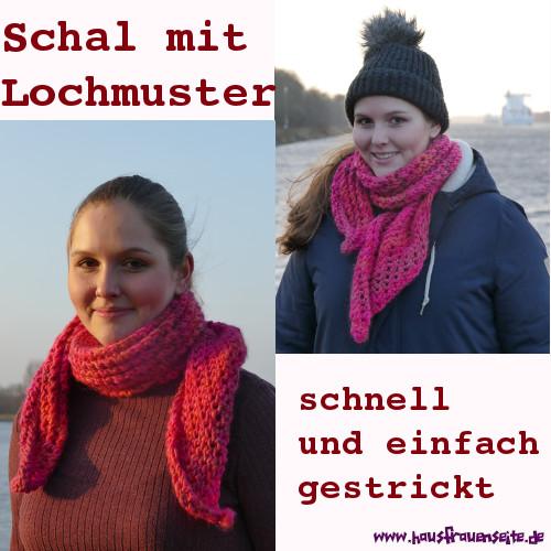 Schal Mit Lochmuster Kostenlose Strickanleitung Mit Bildern