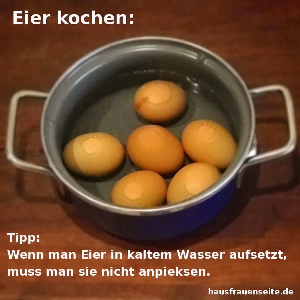 K chentipps zum thema eier - Eier hart kochen zeit ...