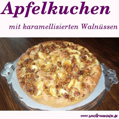 Apfelkuchen Mit Karamellisierten Walnussen Rezept Mit Bild