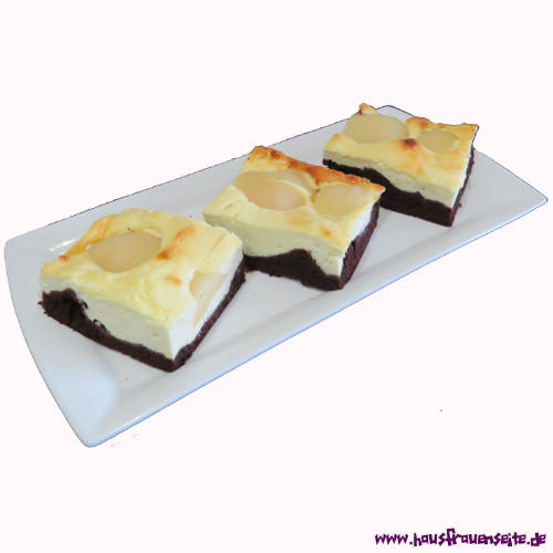 Birnen Schoko Quark Kuchen Birnenkuchenrezept Mit Bild