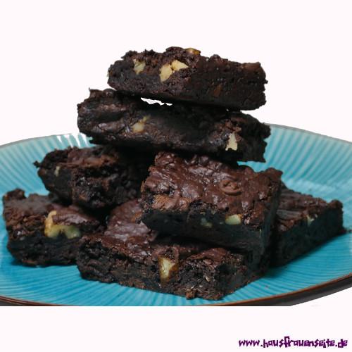 Walnuss Brownies Veganes Brownie Rezept Mit Bild