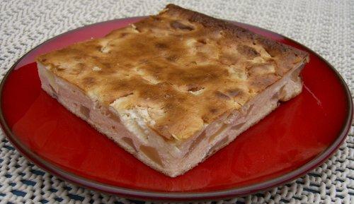 Quarkkuchen Ohne Boden Mit Apfeln Rezept Mit Bild