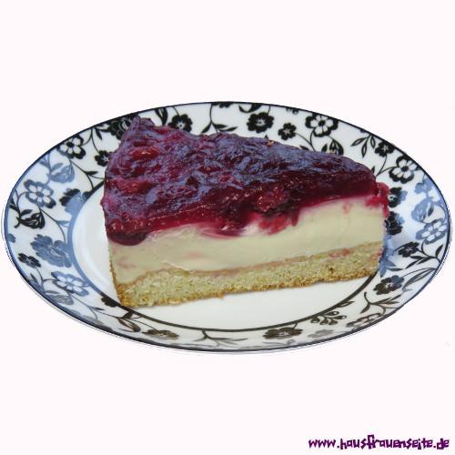 Kirschkuchen Mit Pudding Und Schmand Kuchen Bild Idee
