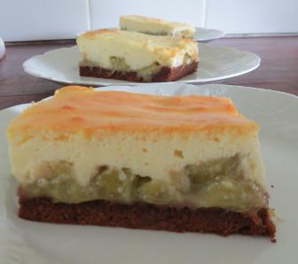Rhabarber Quark Kuchen Vom Blech Rezept Mit Bild