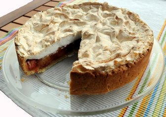 Rhabarber Puddingkuchen Rezept Mit Bild