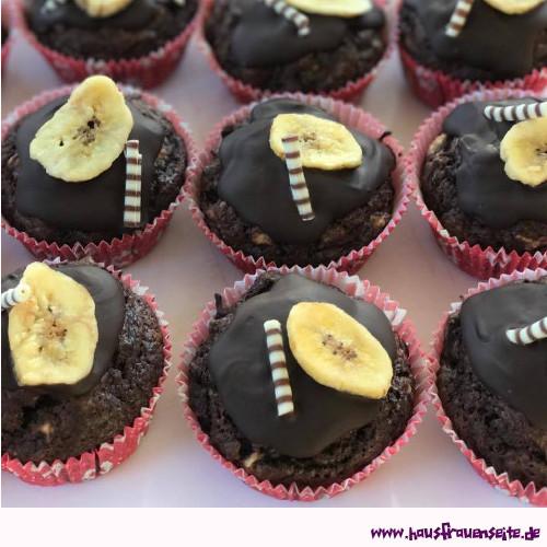 Schoko Bananen Muffins Rezept Mit Bild