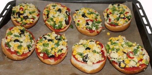 vegetarische pizzabrötchen - rezept mit bild - Schnelle Vegetarische Küche