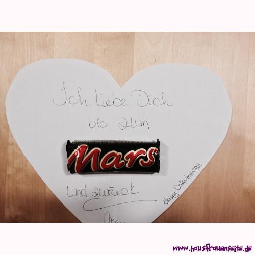 Ich liebe dich bis zum mars und wieder zurück